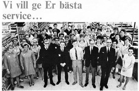 Domus Torshällas personal vid invigningen 1970