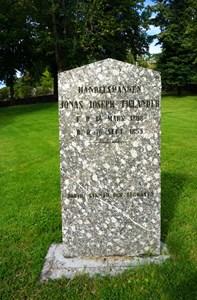 Jonas Joseph Tjulander gravsten