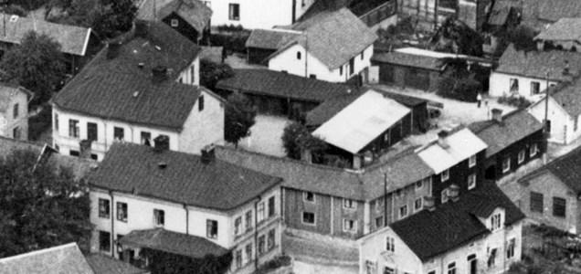 Gård 42 och kvarteret Bisittaren, 1937