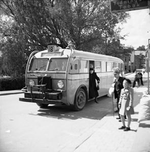 Busstationen vid Brogatan, 1946