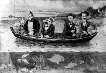 Fyra män i en båt