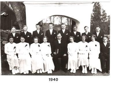 1940 års Konfirmander