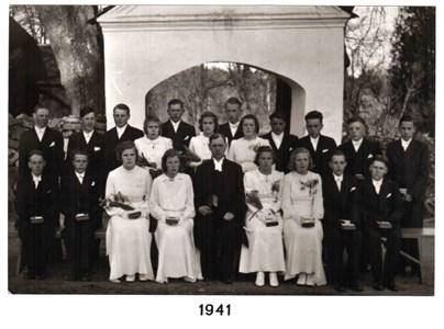 1941 års Konfirmander