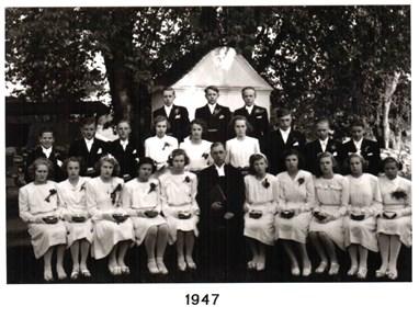 1947 års Konfirmander
