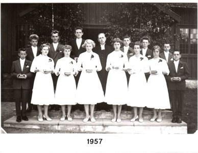 1957 års Konfirmander