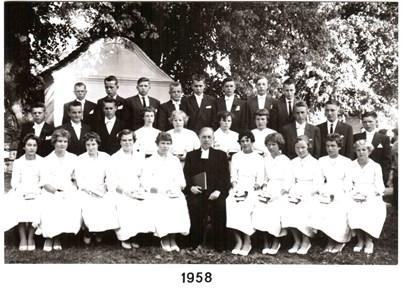 1958 års Konfirmander