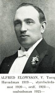 Alfred Elowsson i Västra Torup