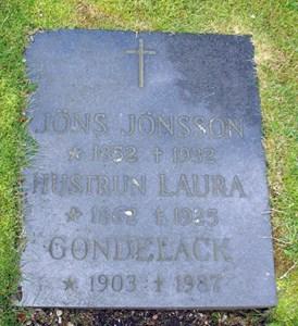 Gravsten Västra Torup Jöns o Laura Jönsson
