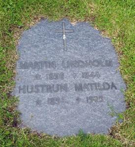 Gravsten Västra Torup Martin o Matilda Lindholm
