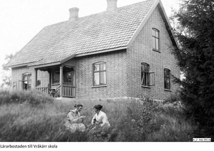 Foto lärarbostaden till Vråkärr folkskola