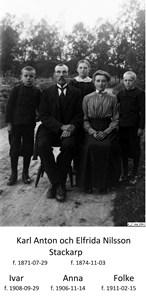 Foto familj. Karl Anton Nilsson