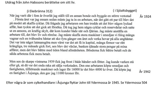 John Hansson berättar