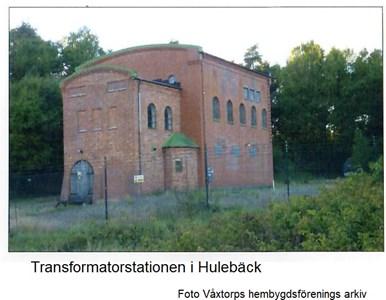 Foto Transformatotstationen i Hulebäck