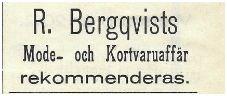 Ragnar Bergqvist Handlande 1912