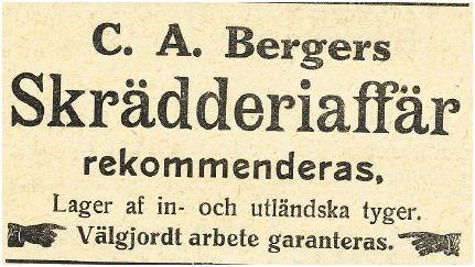 Skrädderiaffär 1912 Olofsborg
