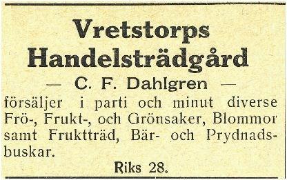 Lundtorp C.F.Dahlgren 1912