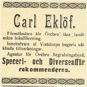 Carl Eklöfs 1912