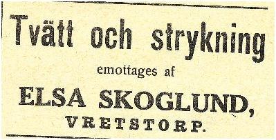 Strykerkan Elsa Skoglund Hågahammar 1912