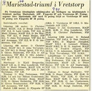 Klubbmatch i Vretstorp 1965