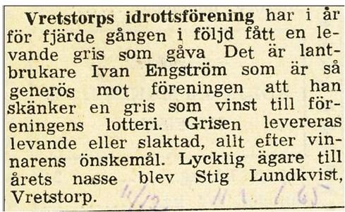 Julgris lotteri 1964