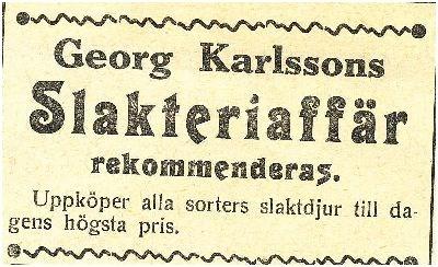 Slakteriaffär Fagerlid 1911