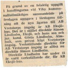 Vretstorp Ångsåg 1964