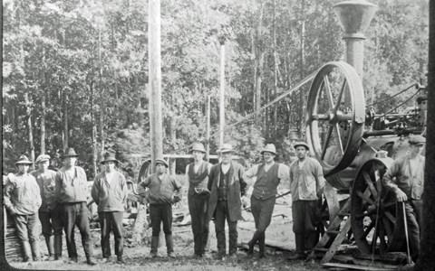 Sågen Körtingsberg början 1900-talet (belägen vid Vibysjön)