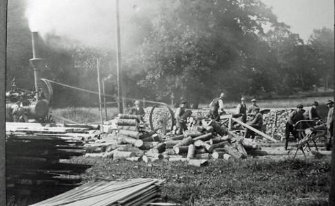 Spånhyvling vid Körtingsberg