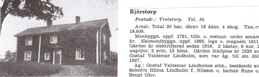 Björstorp 1939