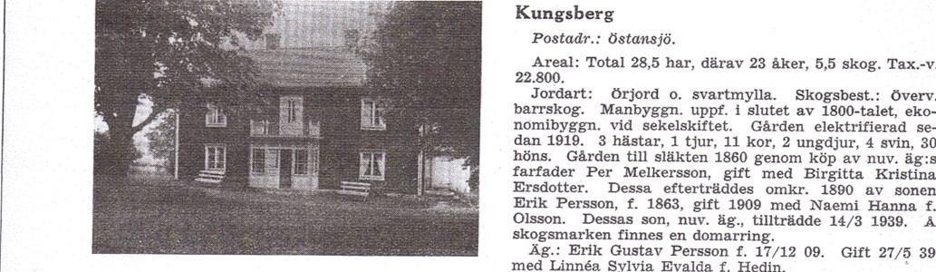 Kungsberg 1939