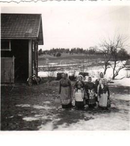 Sörby 1960-talet Påskkäringar