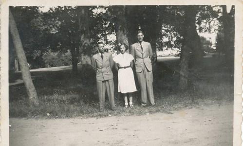 Körtingsberg  Bertil Lindroth,Karin Karlsson och Åke Larsson