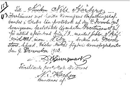 Köpkontrakt.1903