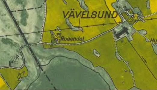 Rosendal, karta 1958