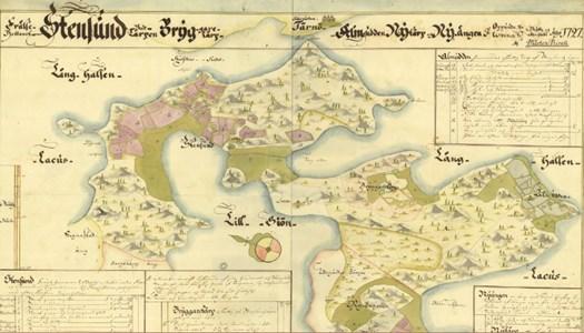 Stensund karta 1727
