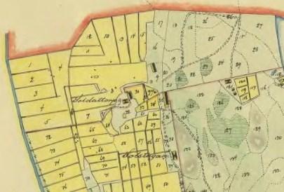 Soldattorp 61 och Solstugan, karta