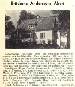 Bröd Anderssons Åkeri