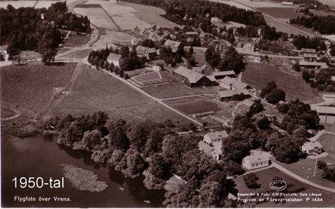 Vrena flygfoto 1950-tql
